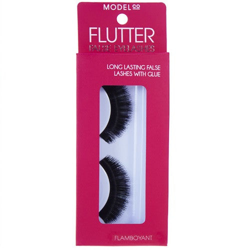 ModelCo Flutter False Eyelashes with Glue