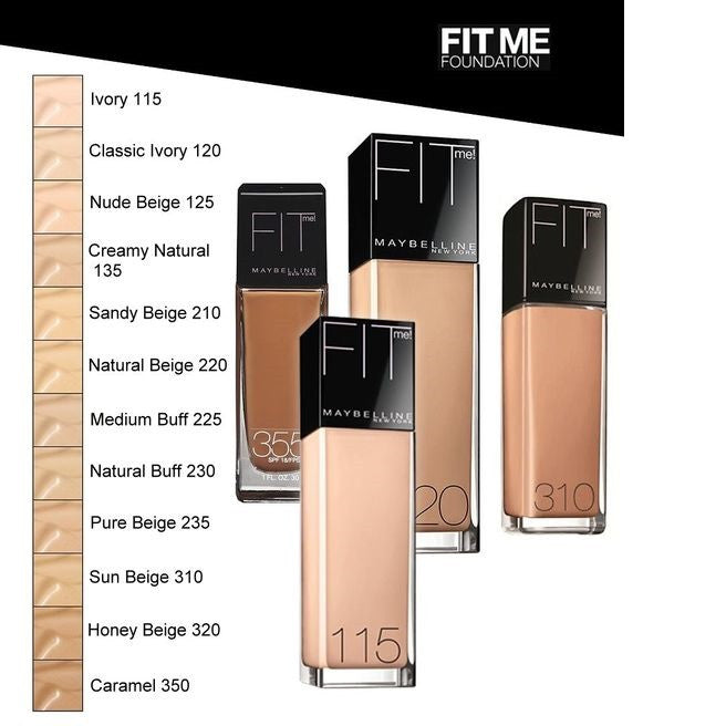 Maybelline Fit Me Foundation 30mL