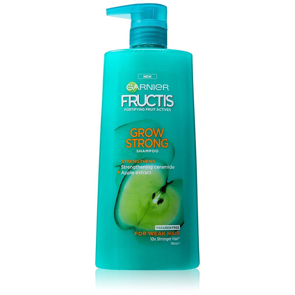 3 x Garnier Fructis Grow Strong Shampoo 700ml