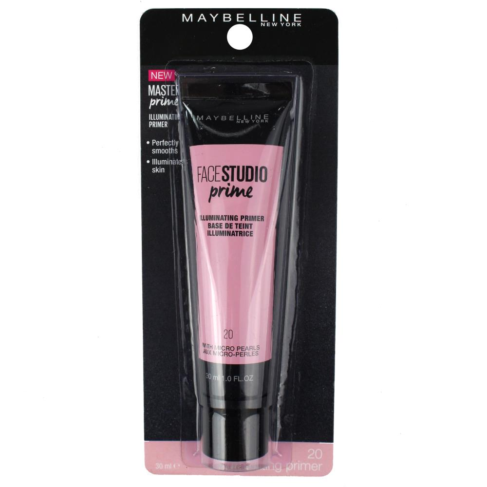 2 x Maybelline Face Studio Prime 20 Illuminating Primer 30mL