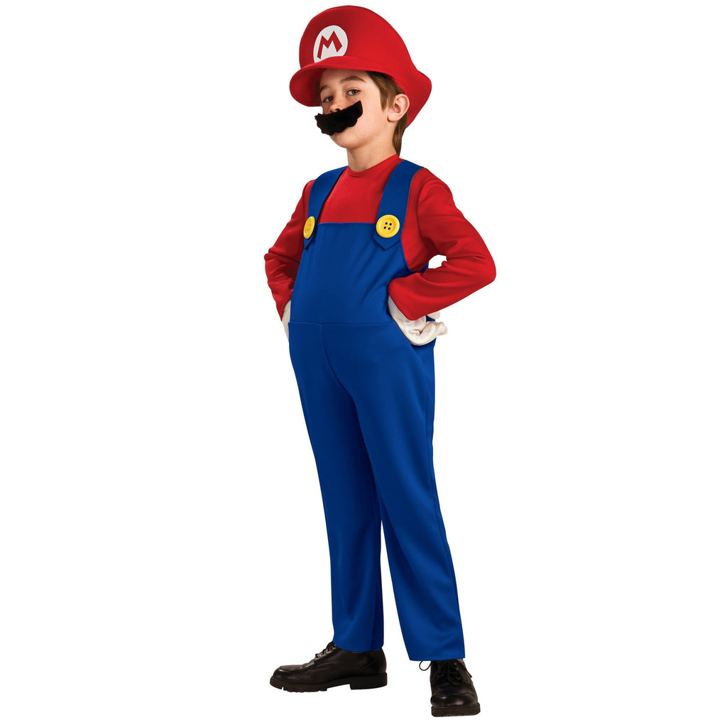 Kids Super Mario Brothers Costume - Mario or Luigi