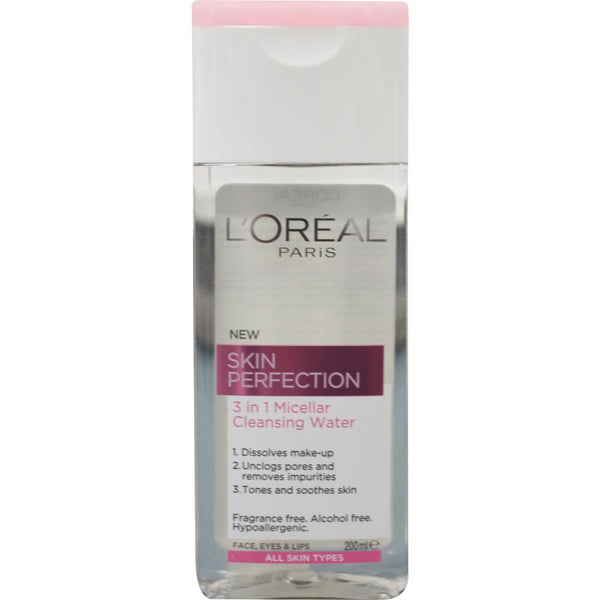 2 x L'Oreal Skin Perfection 3 in 1 Micellar Cleansing Water 200mL