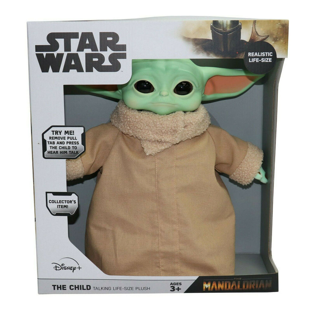 Licensed Star Wars The Mandalorian The Child Baby Yoda Life Size Talking Plush