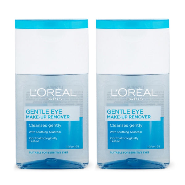 2 x L'Oreal Gentle Eye Make-Up Remover 125mL