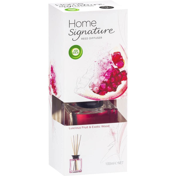 Air Wick Home Signature Reed Diffuser 100mL - Luscious Fruit & Exotic Wood