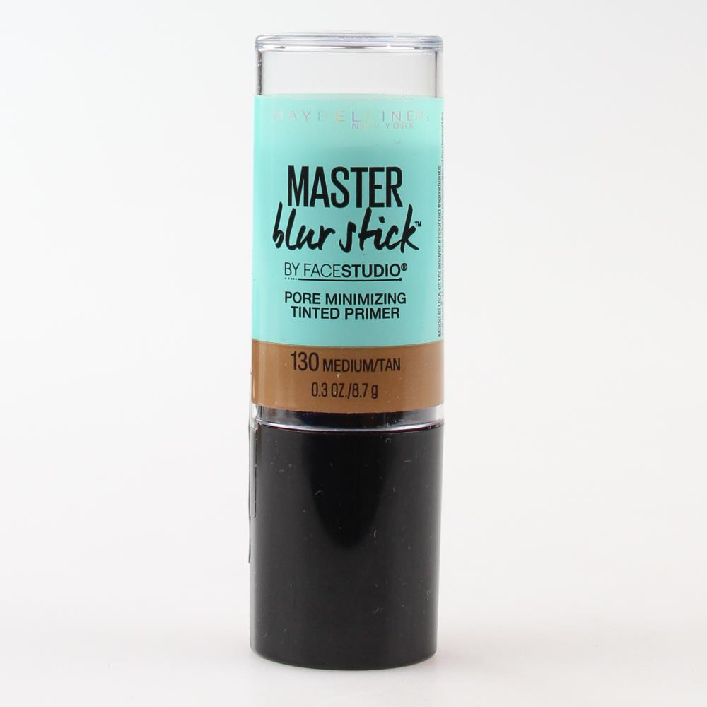 2 x Maybelline Master Blur Stick Pore Minimizing Tinted Primer 130 Medium/Tan