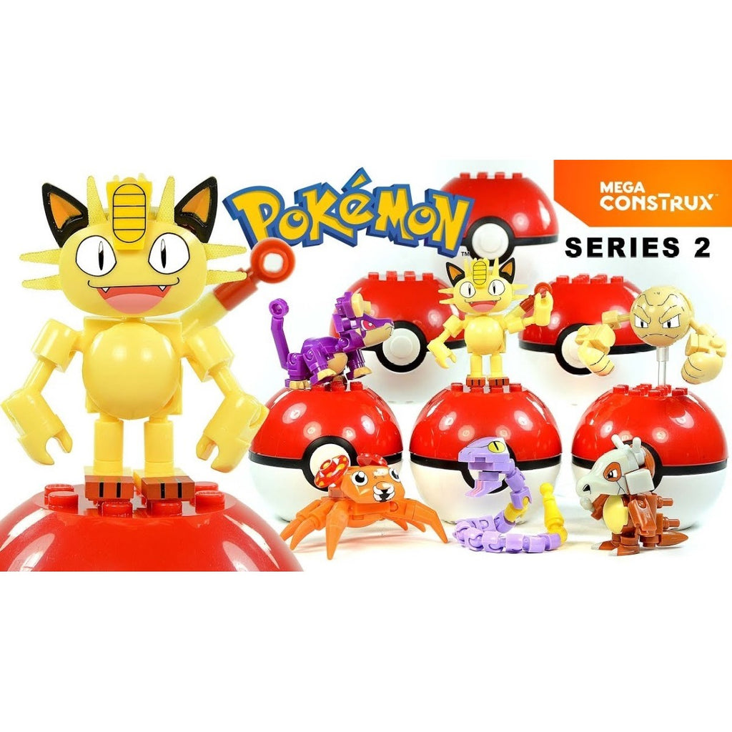Set of 6 Mega Construx Pokeball Series 2