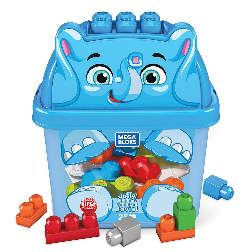 Mega Bloks Jolly Elephant Jumbo Blocks 25 Pieces