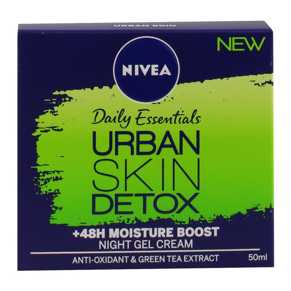 3 x Nivea Urban Skin Detox Night Gel Cream 50mL