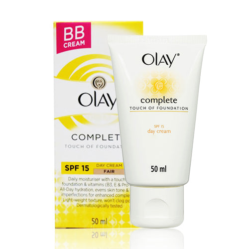 2 x Olay Complete Touch Of Foundation SPF15 Day Cream 50mL - Fair