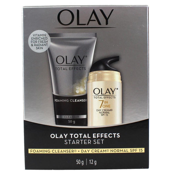 3 x OLAY Total Effects Starter Set 2 Pack - Cleanser + Cream