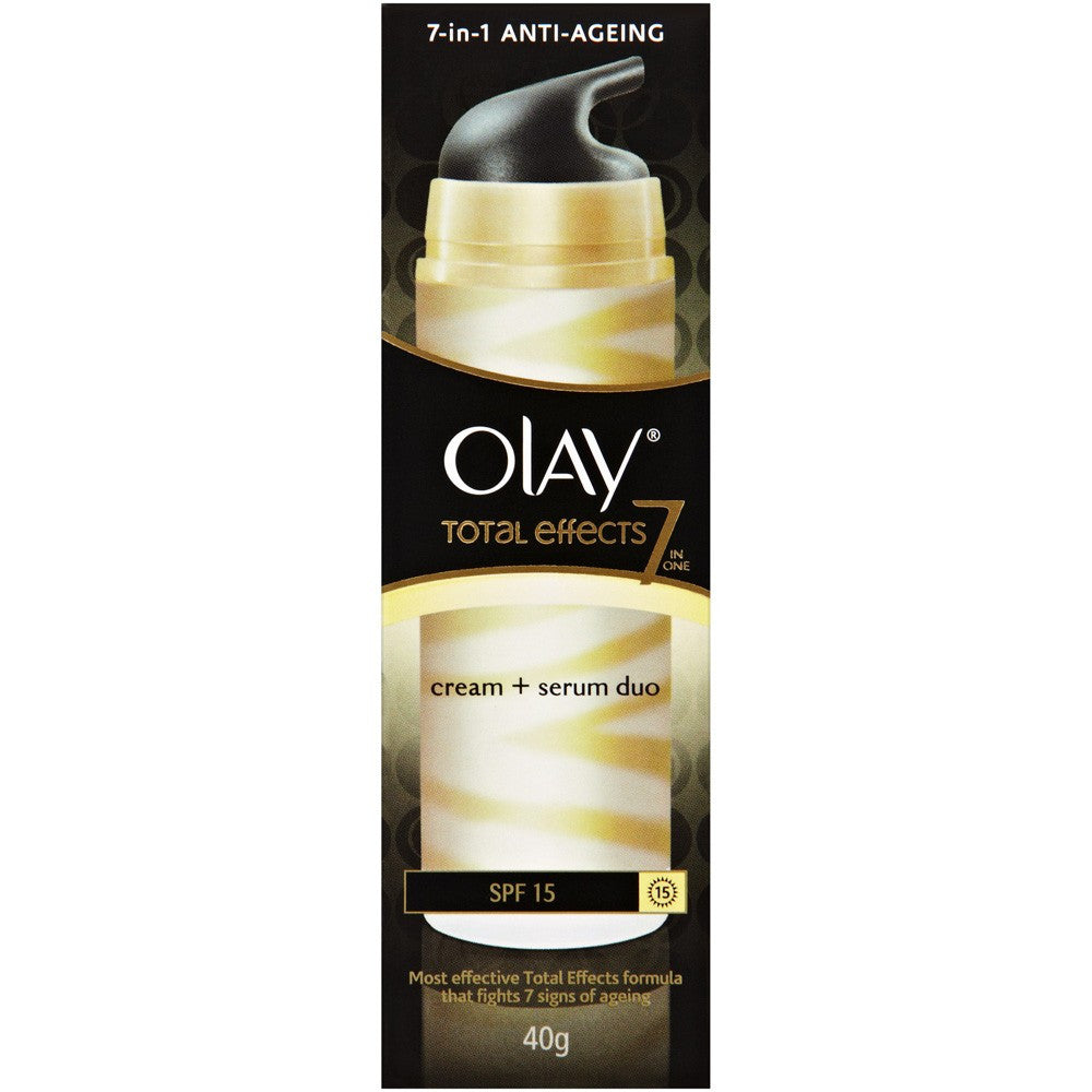 Olay Total Effects Cream & Serum Duo SPF15 40g