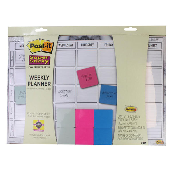 3M Post It Super Sticky Weekly Planner - 45cm x 30cm