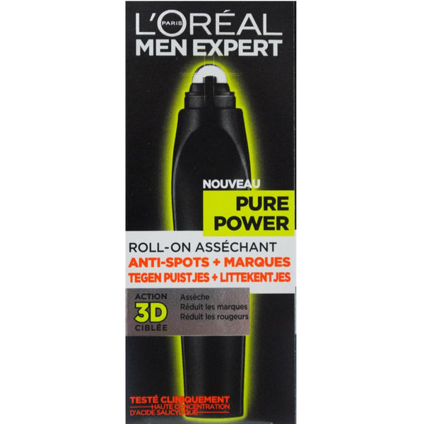 2 x L'Oreal Men Expert Pure Power Targeting Roll-On 10mL