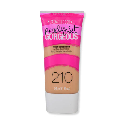 2 x COVERGIRL Ready Set Gorgeous Oil Free Foundation 30mL - 210 Medium Beige