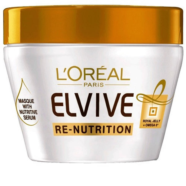 3 x L'Oreal Elvive Re-Nutrition Nourishing Masque 300mL