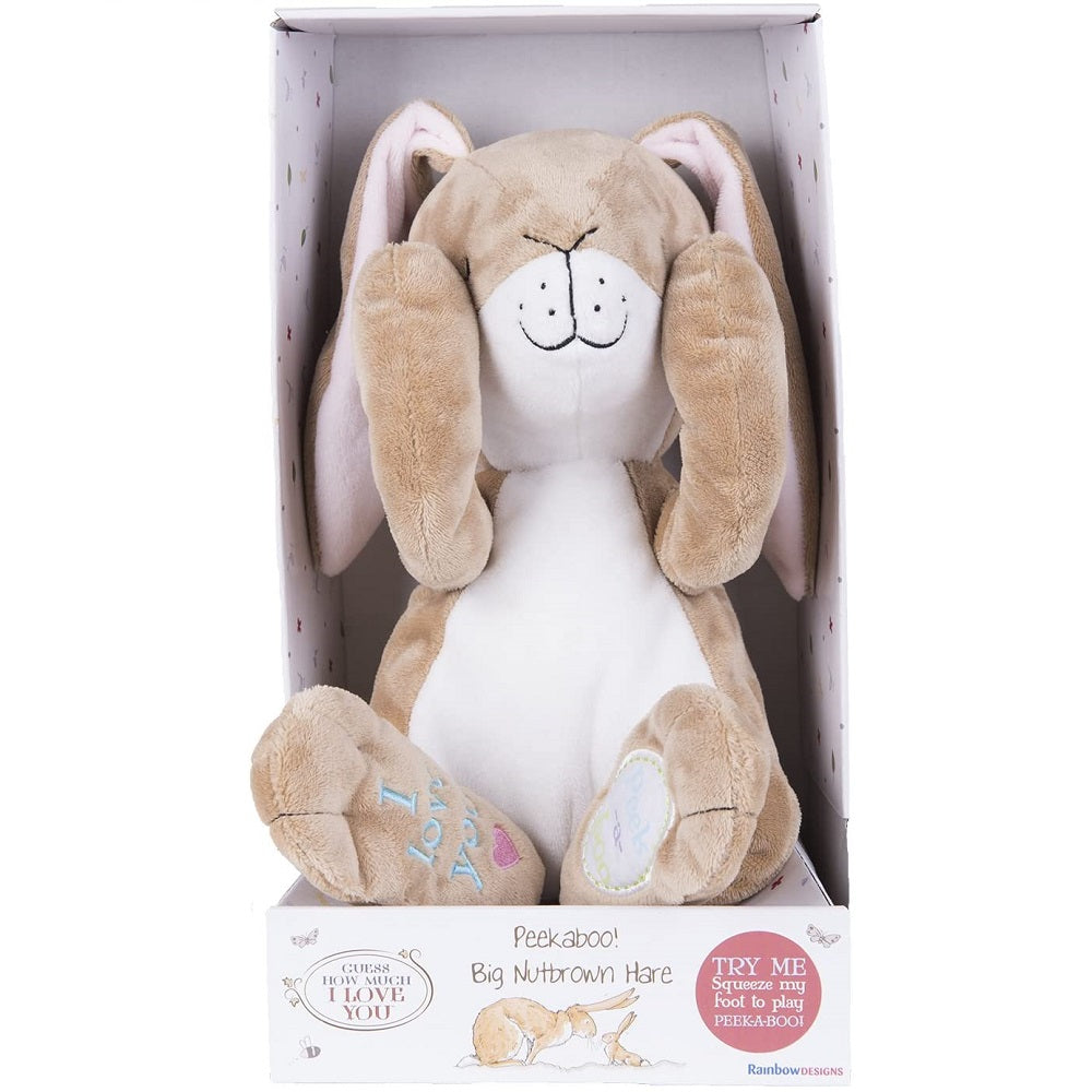 Guess How Much I Love You Peek a Boo Nutbrown Hare Interactive Plush 25cm