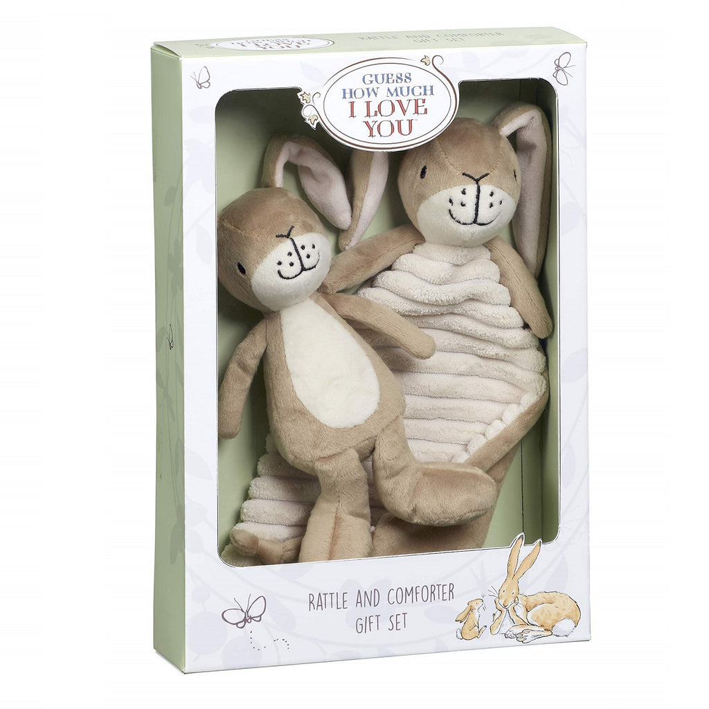 Guess How Much I Love You Nutbrown Hare Comfort Blanket Rattle Gift Set