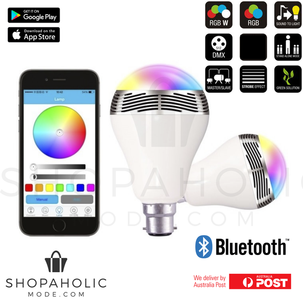Bluetooth Color Changing LED Light Bulb with Speaker E27 / B22