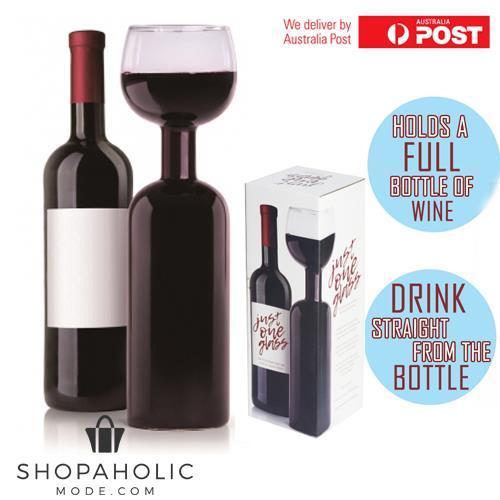The Wine Bottle Glass Holds 750mL Novelty Gift