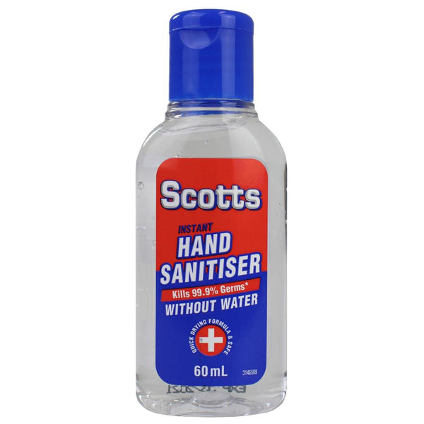 Scotts Instant Antibacterial Hand Sanitiser 60mL - Made in Australia