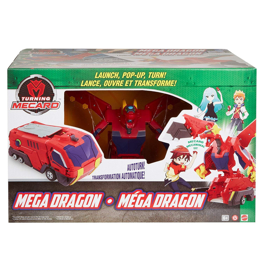 Turning MeCard Mechanimal - Mega Dragon