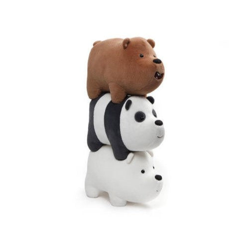 Set of 3 We Bare Bears Stackable Mini Plush Licensed by Gund