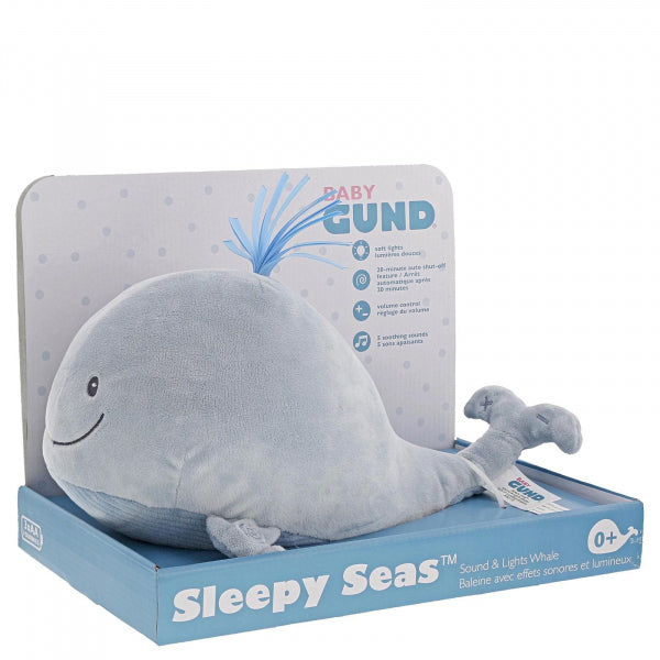 Sleepy Seas Sound & Lights Whale 30cm