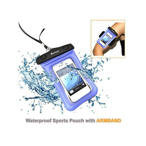 SANSAI Waterproof Sports Pouch for smartphone with ARMBAND