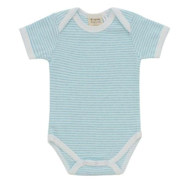 Pinstripe Blue Short Sleeve Bodysuit