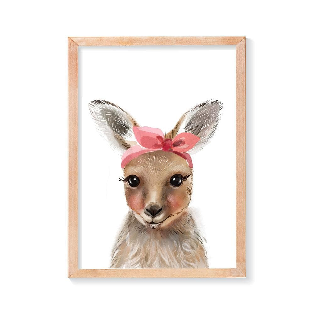 Cute Kangaroo Wall Art