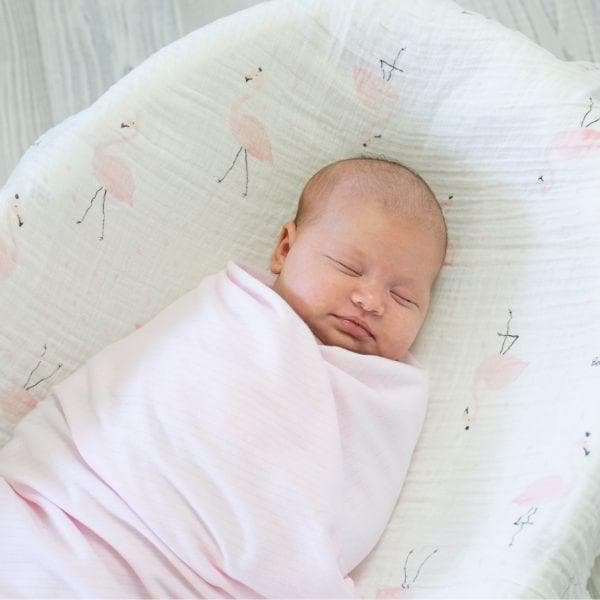 Pink Soft Stripe Cotton Wrap
