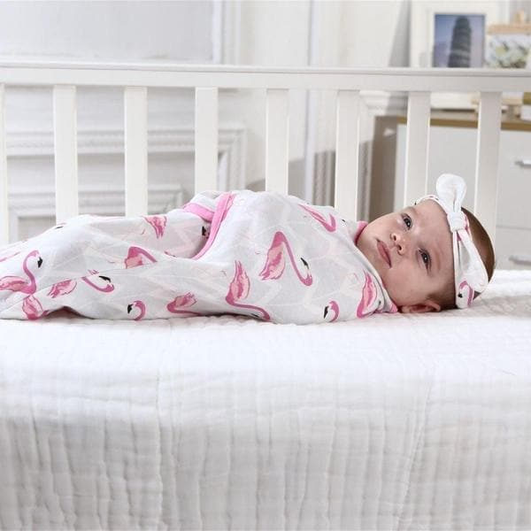 Grey Star Flamingo Swaddle Wrap 2pk