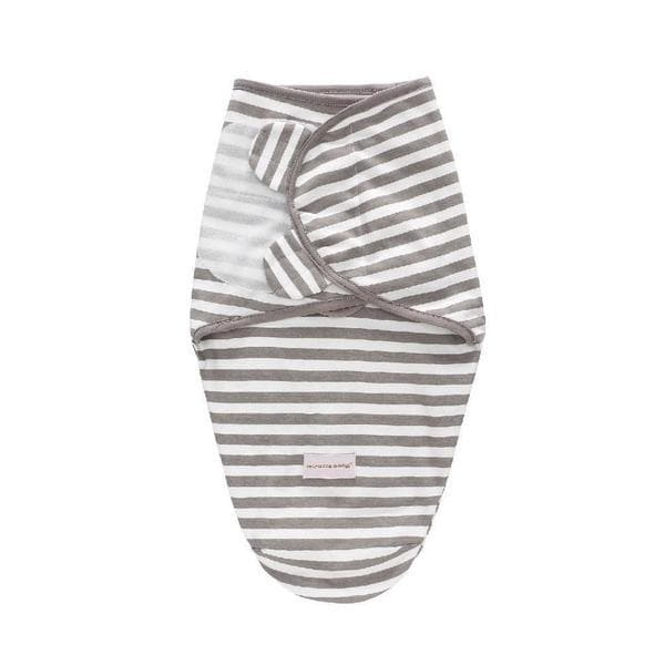 Grey Stripe Honey Mustard Swaddle Wrap 2pk
