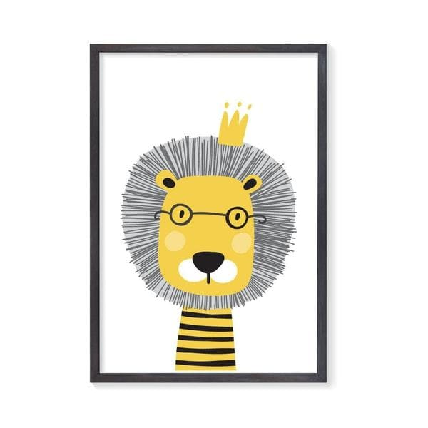 King of the Jungle Lion Nursery Wall Art. Kids Wall Art. Nursery prints. Bespoke Baby Gifts