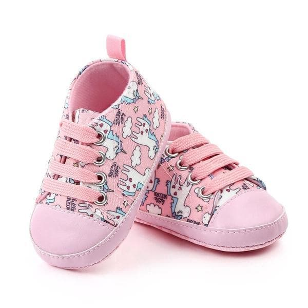 Pastel Pink Unicorn Baby Shoes
