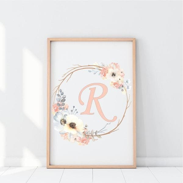 Personalised Letter in Floral Crown