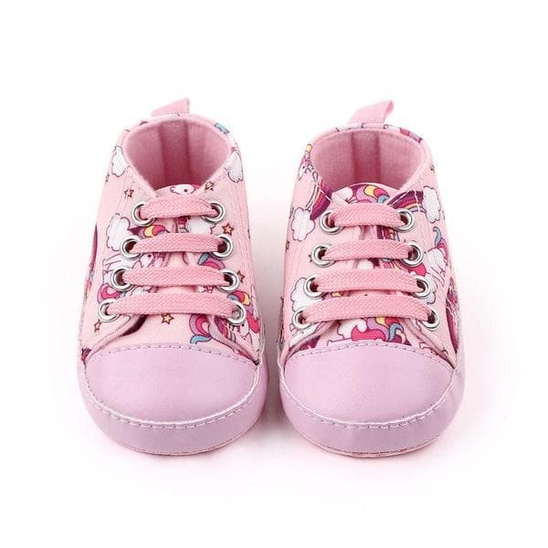 Pink Unicorn Baby Shoes