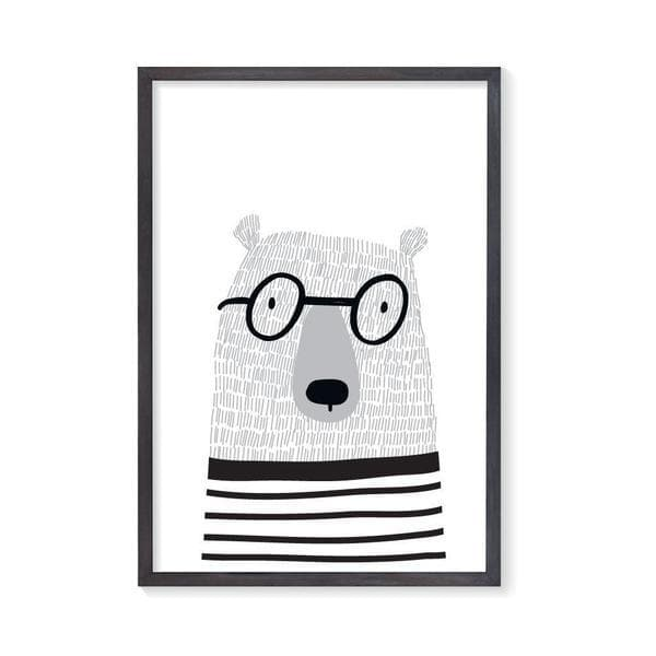Scandi Bear Kids Wall Art. Nursery Prints. Nursery wall art. Bespoke Baby Gifts. Woodland Wall Art. bespoke baby gifts. monochrome wall art.