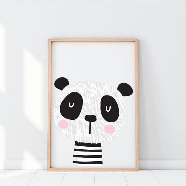 scandi pands. panda. pink cheeks. nursery prints. kids wall art. unique gifts australia. baby shower gift ideas. gifts for girls. gifts for boys. baby gifts online.