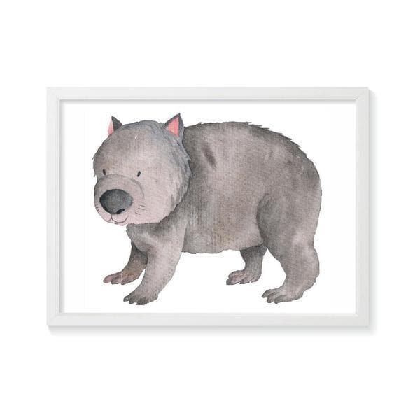 Wally Wombat Wall Art