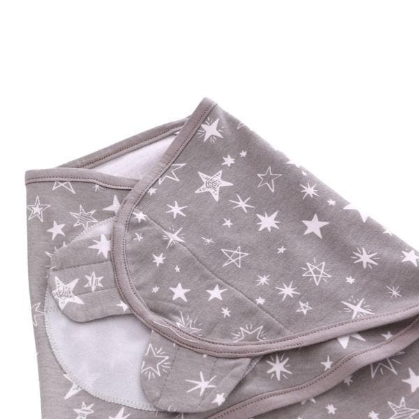 White Grey Stars Swaddle Wrap