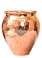 New Copper Hammered Kulhad Glass