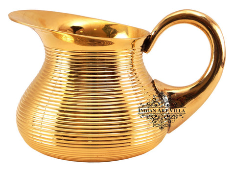 Brass Handmade Lining Designer Jug Pitcher 1200 ML