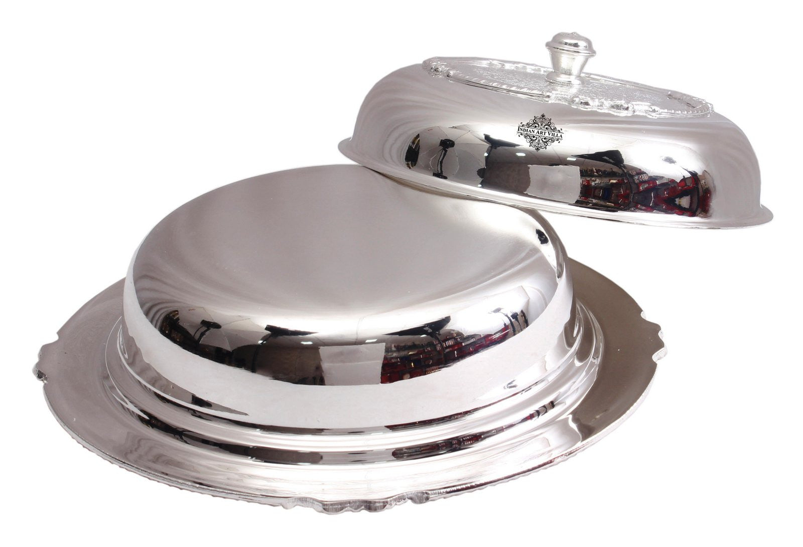 Silver Plated Embossed Design Casserole Donga -1200 ML