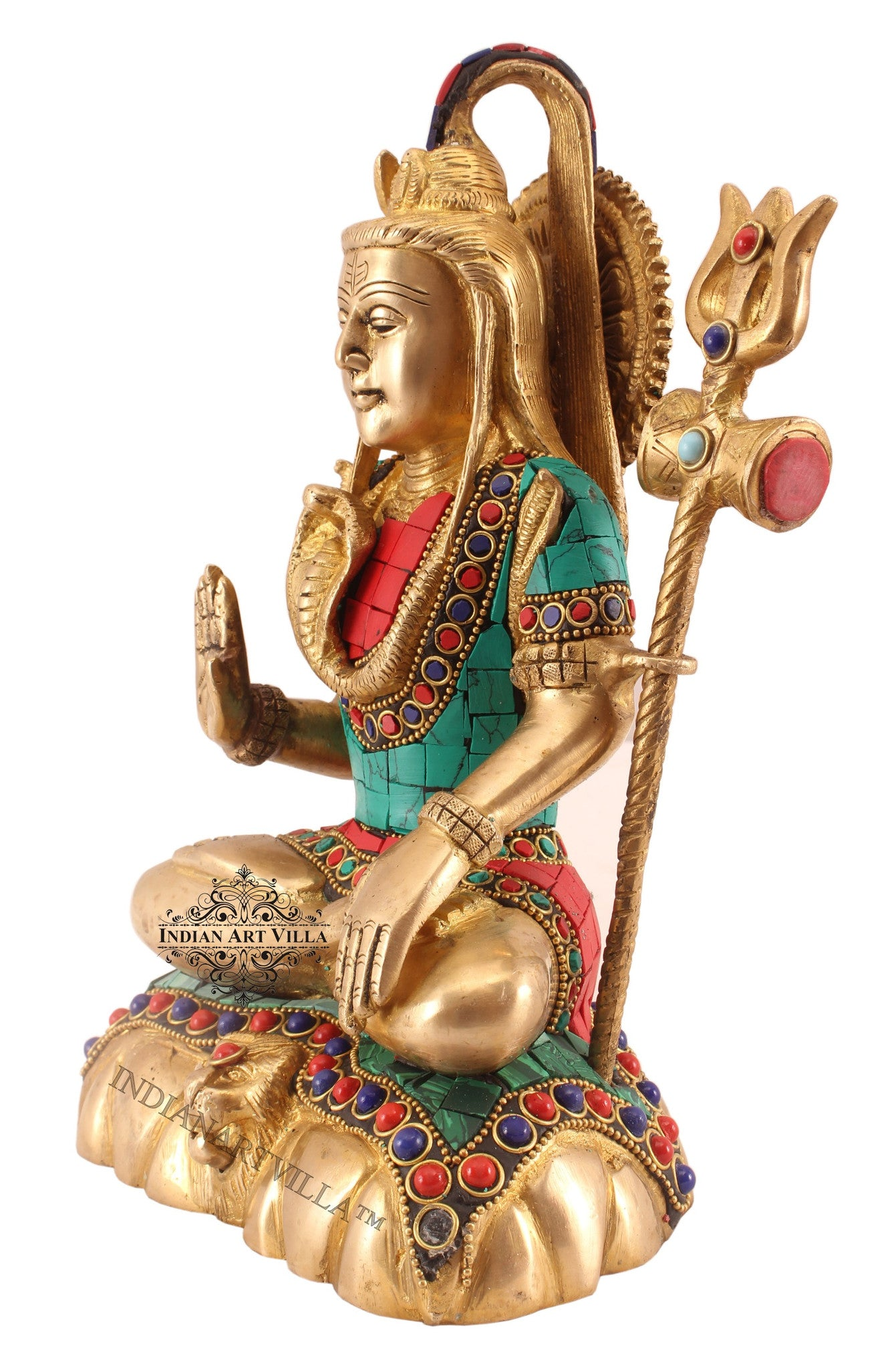 "Brass Designer Lord Shiva -9.5"" Height"