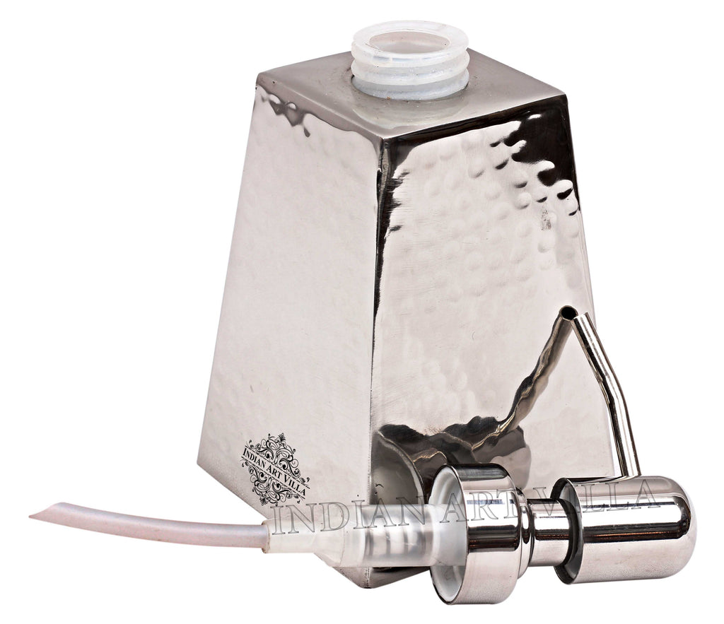 Steel Hammered Pyramid Design Soap Dispenser