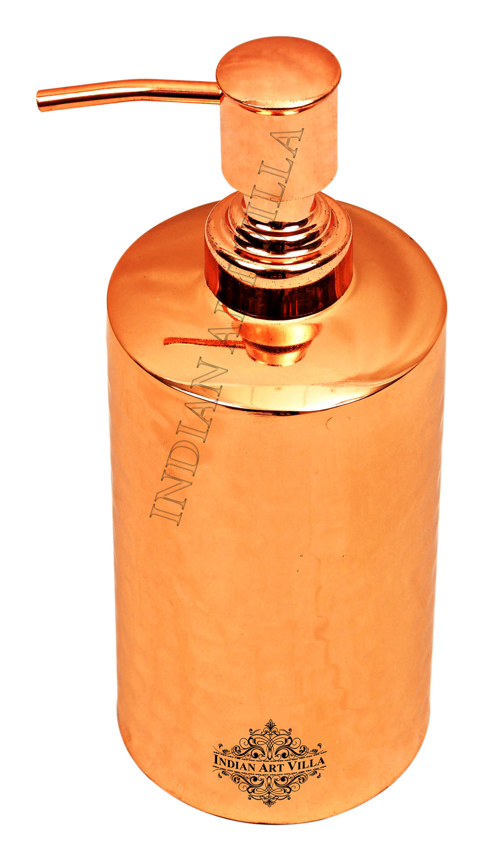 Copper Finish Hammered Round Soap Dispenser