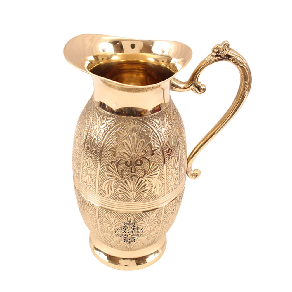 Brass Handmade Shahi Design Jug Pitcher 1300 ML