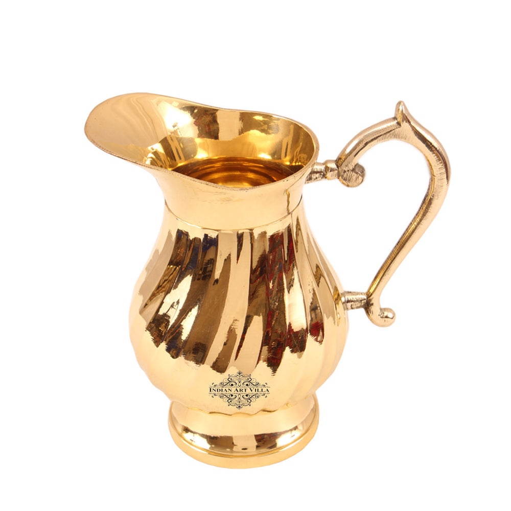 Brass Lining Design Jug Pitcher 1000 ML